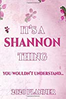 SHANNON: Personalised Name Planner 2020 Gift For Women & Girls 100 Pages (Pink Floral Design) 2020 Weekly Planner Monthly Planner