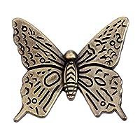 (5pcs, 43mm Antique bronze) - 5Pcs Vintage Butterfly Cupboard Door Knobs Cabinet Handles Furniture Chest Drawer Pull 43mm Antique Bronze