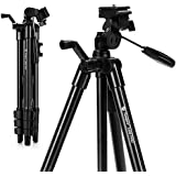 """Camera Tripod, Lightweight Flexible Tripod, Fotopro 48"""" Tripod with Wireless Remote for DSLR Cameras, Smartphones and Gopro, Quick Release Plate, Tripod Bag for Camera, Smartphone and Gopro,Black(DIGI-3400 PRO)"""