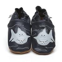 Soft Leather Baby Shoes Shark [ソフトレザーベビーシューズのサメ] 6-12 months (12 cm)