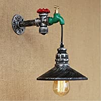 xuexin AC 220–24040e27Rustic /ロッジPainting機能for Bulb Included、環境光壁掛け燭台壁壁ライト
