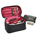 NOTAG 女性の化粧ポーチナイロン化粧品のバニティケース超軽量化粧品のストレージ機能的な旅行ポーチ大容量の化粧ブラシポーチ Makeup pouch (ブラック2)