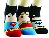 バットマン・スーパーマン靴下24~27cm伸縮性がよく着脱も楽々♪履き心地もバツグン! (Marvel3Set)