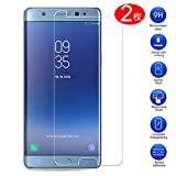 MaxKu Samsung Galaxy Note FE 強化ガラスフィルム 日本旭硝子素材採用 高透過率 薄型 硬度9H 飛散防止処理 2.5D ラウンドエッジ加工 自動吸着 液晶保護フィルム【2枚入り】