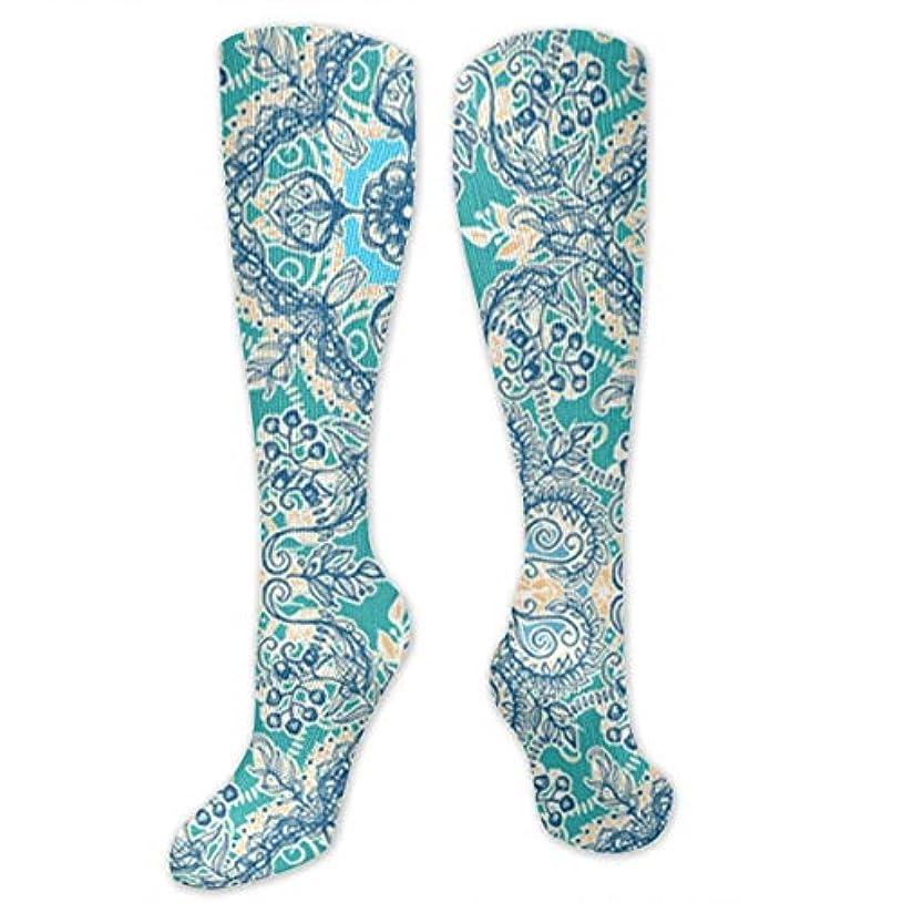 以降商標前者靴下,ストッキング,野生のジョーカー,実際,秋の本質,冬必須,サマーウェア&RBXAA Gypsy Floral in Teal Socks Women's Winter Cotton Long Tube Socks Knee...