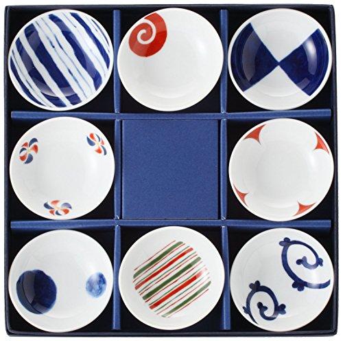 波佐見焼 西海陶器 染錦絵変わり 小皿揃え 13307