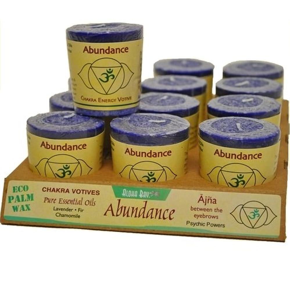 もつれ落ちた知覚できるAloha Bay 284760 Aloha Bay Chakra Votive Candle - Abundance - Case of 12 - 2 oz