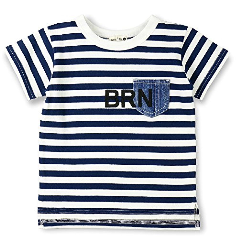 (ブランシェス) branshes デニムポケット半袖ボーダーTシャツ