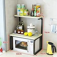 電子レンジラック、キッチン棚、3段収納ラック、オーブンラック、調味料ラック