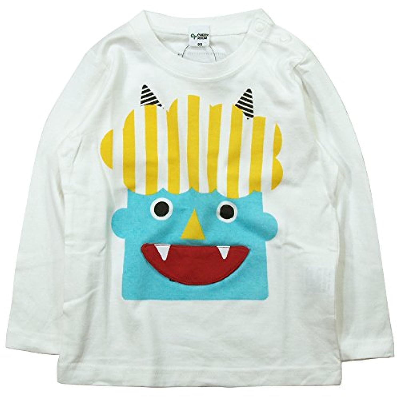 《春夏対応》 CHEEK ROOM(チイクルーム)  製品洗い加工済み42/2天竺おに長袖Tシャツ 80cm /OW NO.B-470213