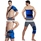 Koo-Care Large Flexible Gel Ice Pack & Wrap with Elastic Straps for Hot Cold Therapy - Great for Sprains Muscle Pain Bruises