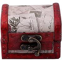 KLUMA 宝箱 収納ケース アクセサリー アンティーク調 木製 ボックス レトロ 装飾 ビンテージ加工 小物入 オシャレ