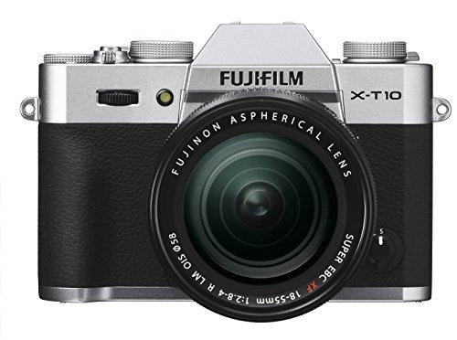 FUJIFILM ミラーレス一眼 X-T10 レンズキット シルバー X-T10LK-S