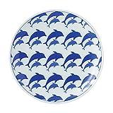 浜陶 アニマル イルカ 5寸プレート 06-07