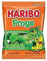 Haribo グミキャンディ、、5オズ。バッグ(12パック) カエル 5オンス(12パック)