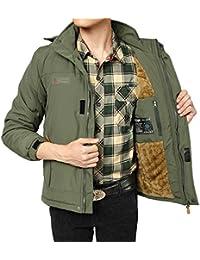(habille)メンズ あったか 裏起毛 ミリタリージャケット アウトドア 防寒 おまけ付(3カラー)