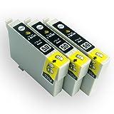EPSON(エプソン) 互換インクカートリッジ IC50 ブラック3本セット 残量表示機能付 Angelshopオリジナル