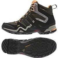 アディダス (adidas) 海外限定モデル 防水トレッキングシューズ 25.0cm テレックス Terrex FAST X HI GTX ゴアテックス ハイカットモデル M29317 ブラック/グリーン 国内正規品
