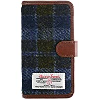 [ZI:L](ジール) HarrisTweed (ハリスツイード) iPhone6 iPhone6s [M] ケース 手帳型 スマホケース カードポケット付き ネイビー スマホカバー 携帯カバー