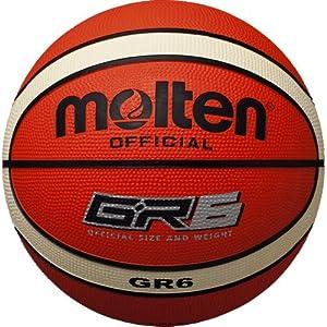 molten(モルテン) バスケットボール GR6 BGR6-OI オレンジ×アイボリー 6号