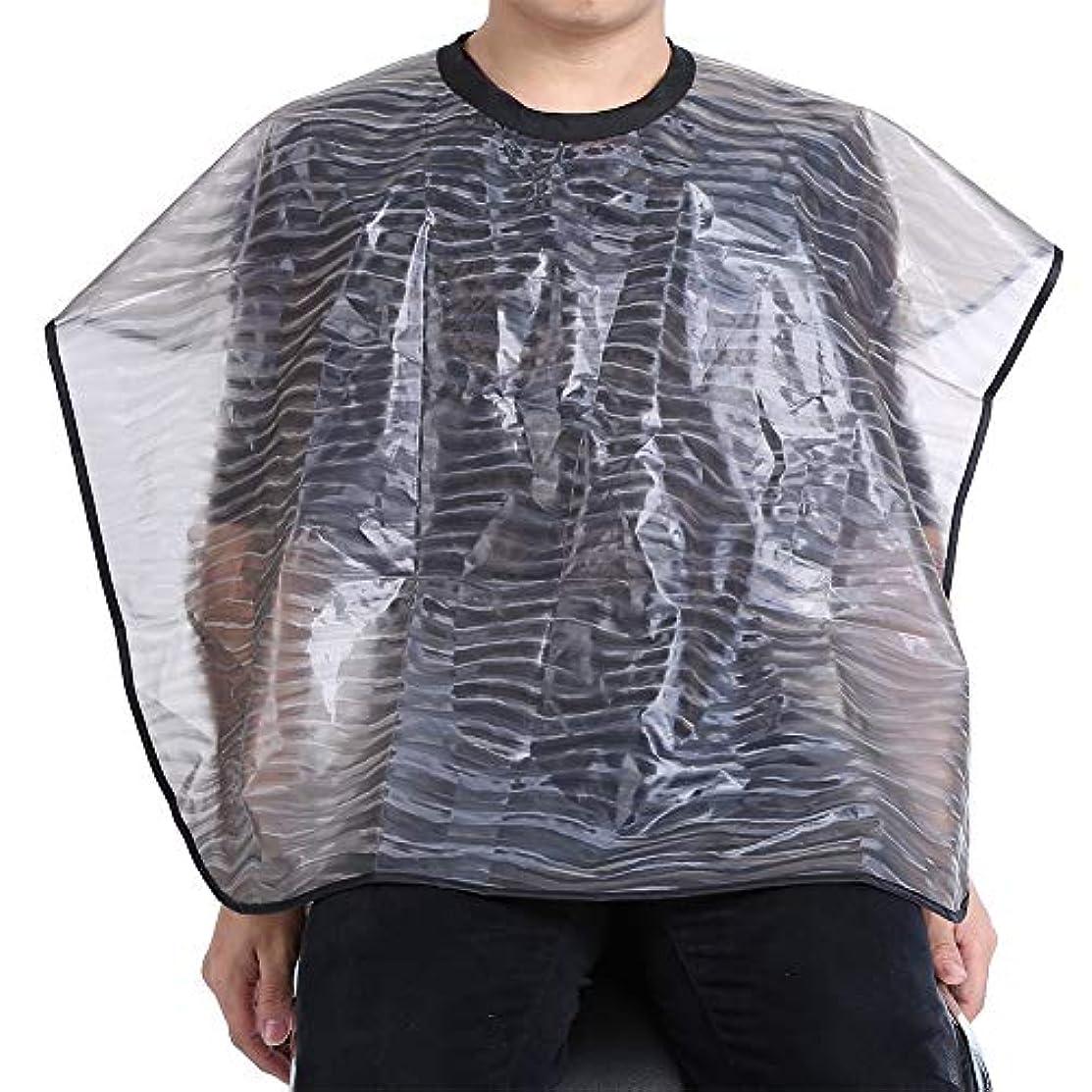 着実に困惑するやさしく2サイズ防水再利用可能なサロン理髪布-耐久性のあるヘアスタイリストガウンバーバーケープ(01)