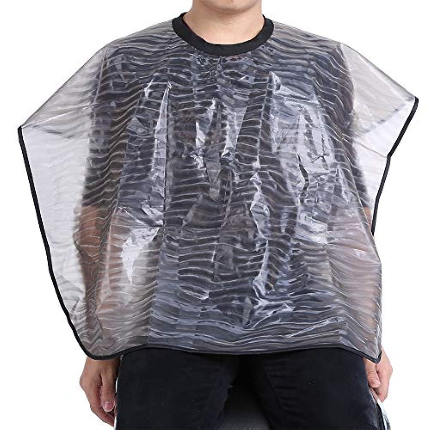 内陸スティックほのめかす2サイズ防水再利用可能なサロン理髪布-耐久性のあるヘアスタイリストガウンバーバーケープ(01)