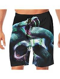 メンズ水着 ビーチショーツ ショートパンツ ファンタジー スネーク 蛇 スイムショーツ サーフトランクス 速乾 水陸両用 調節可能