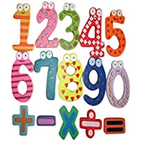 Rong Halloween 磁気木製数字 数学セット デジタルベビー教育玩具 A ブラック aaa