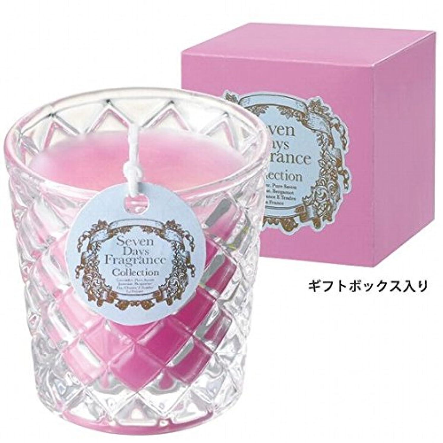 モニカ懐なんとなくカメヤマキャンドル(kameyama candle) セブンデイズグラスキャンドル(金曜日) 「 フローラルブーケ 」