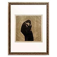 エドヴァルド・ムンク Edvard Munch 「The kiss IV」 額装アート作品