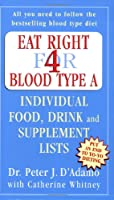Eat Right for Blood Type A: Individual Food, Drink and Supplement lists (Eat Right for Your Type)
