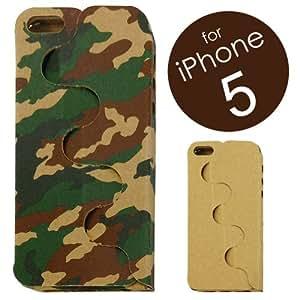 1枚のダンボールからつくる、iPhone5ケース「iPhone PAPER JACKET」 (iPhone5用 CAMOUFLAGE:迷彩柄) IPJ5-CAM