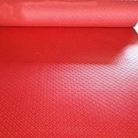 PVCゴム滑り止めマット、プラスチックフロアマット、防水および耐摩耗カーペット CONGMING (色 : Red, サイズ さいず : 0.9m*5m)