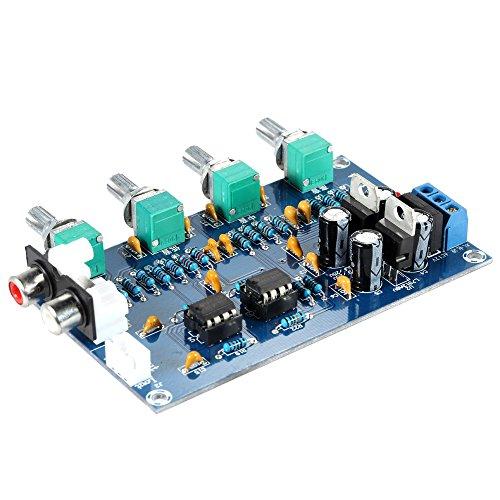 KKmoon アンプボード ステレオプリアンプ DIYオーディオアンプボード 4チャンネル・アンプ・ボード