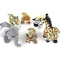 Children's plush toddler preschool and baby Toys. kids set Includes 6 Wildlife Animals .