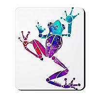 CafePress–CrazyパープルTree Frogマウスパッド–ノンスリップゴムマウスパッド、ゲームマウスパッド