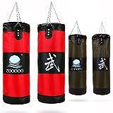 サンドバッグ 100cn ボクシング 格闘技 パンチングバッグ 砂なし ボクササイズ パンチ キック 打撃 練習 ストレス発散 (100cm レッド)