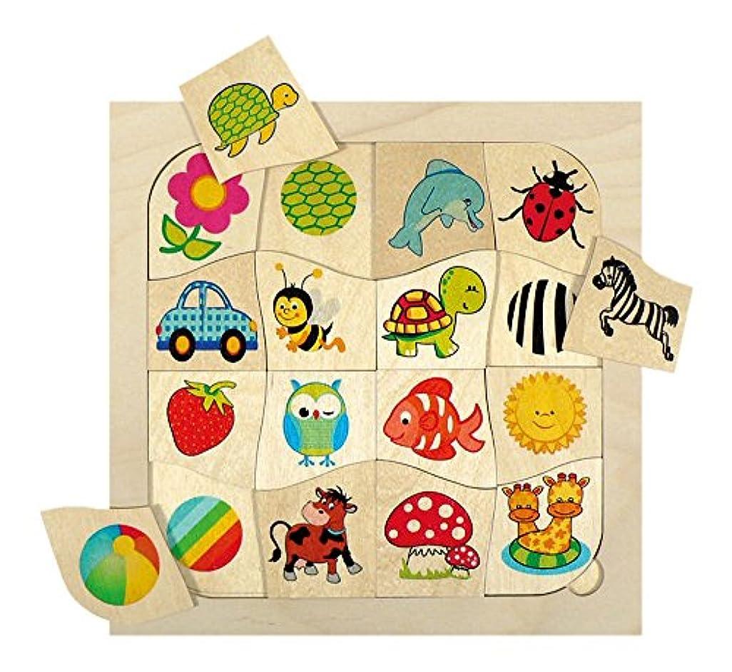 リーク驚いたことに町Hess 木製 16パーツ マッターマッチングゲーム 赤ちゃん用おもちゃ