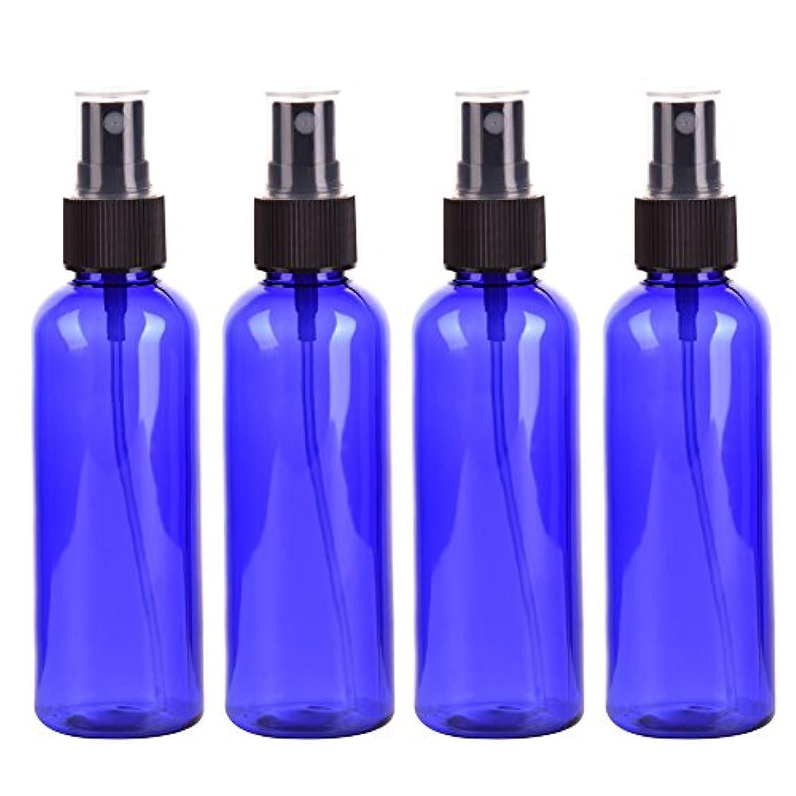 ベイビー教室削減Farlong 4本セット スプレーボトル 3色おしゃれ PETボトル 100ml (A)