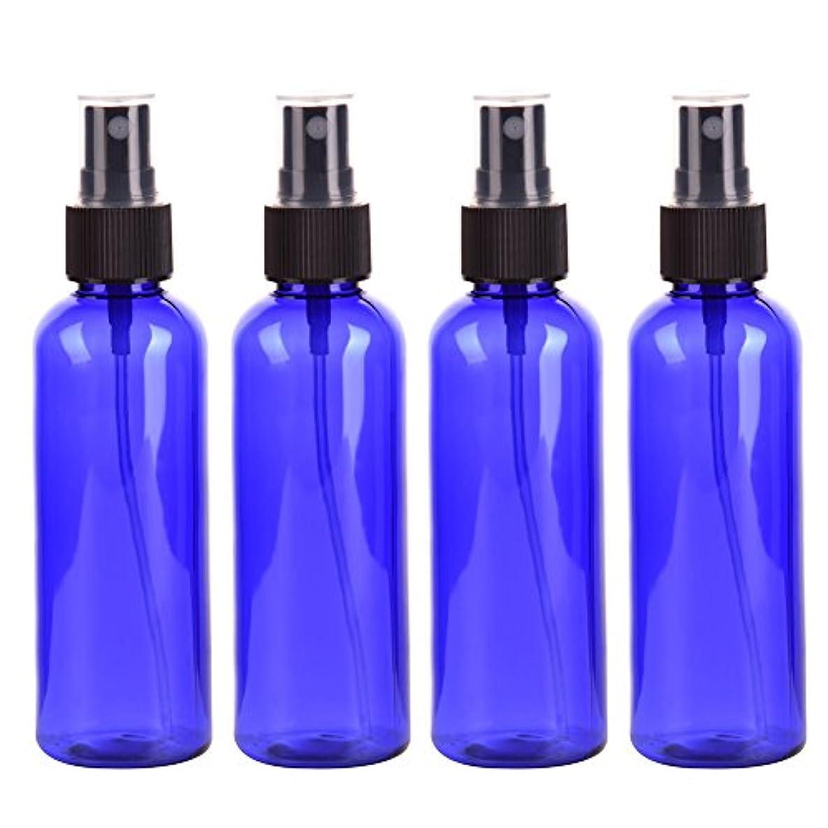 恐れ尽きる未使用Farlong 4本セット スプレーボトル 3色おしゃれ PETボトル 100ml (A)