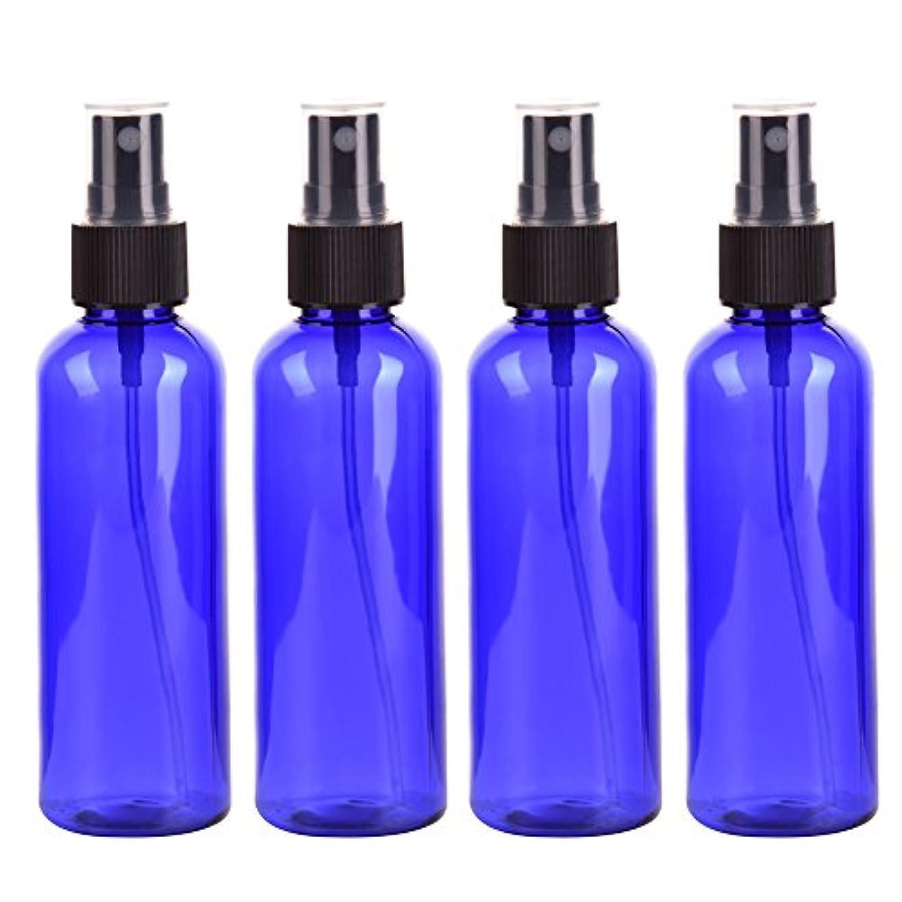毒群集提案するFarlong 4本セット スプレーボトル 3色おしゃれ PETボトル 100ml (A)