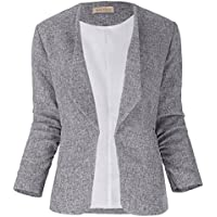 Kate Kasin Women 3/4 Sleeve Casual Office Lapel Collar Coat Tops KK470