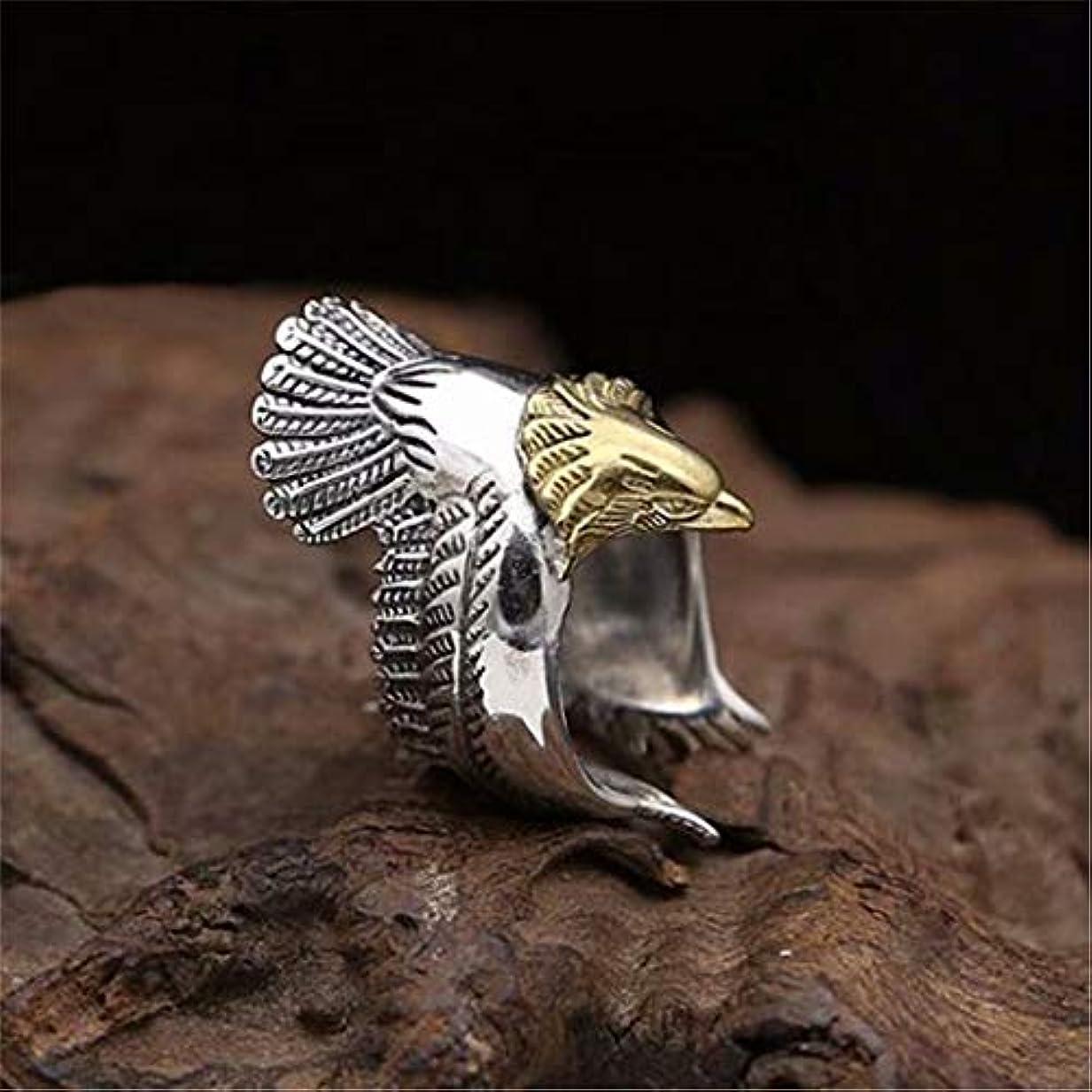 誇大妄想マーキー思われる七里の香 メンズ レディース 男女 兼用 人気 鷲 羽根 フリー サイズ 指輪 1個