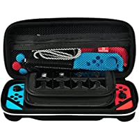 HCMA Nintendo Switch ケース セミハード 2点セット フィルム付き 耐衝撃 任天堂 スイッチ 収納ポーチ 持ち運び便利