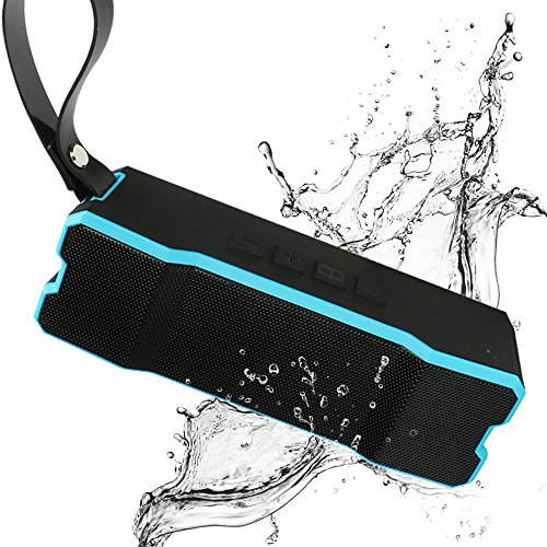 itDEAL Bluetooth スピーカー 20時間連続再生 大音量 低音 ステレオ 高音質 アウトドア IPX6 防水スピーカー 内蔵マイク搭載 microSDカード AUX対応 (ブルー)