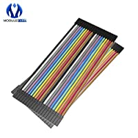40Pcs 2.54mm Dupont Cable Female to Female Colorful Dupont Jumper Wire 20CM