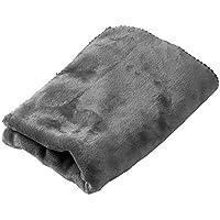 アイリスプラザ ひざ掛け 毛布 ブランケット プレミアムマイクロファイバー とろけるような肌触り fondan 静電気防止 洗える 高密度 品質保証書付き ハーフ 100×70cm グレー