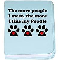 CafePress – My Poodle – スーパーソフトベビー毛布、新生児おくるみ ブルー 087077825225CD2