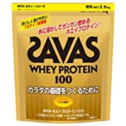 ザバスホエイプロテイン 100バナナ風味2.5kg