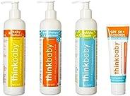 thinkbaby Baby Care Essentials Shampoo/Lotion/Bubble Bath/Sunscreen Set
